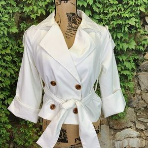 NWT MADISONNE Cropped Trench/Jacket, S